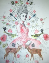 Let them eat cake (True colours) Pencil crayon. 4ft x 2ft Price: £500.00