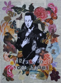 Listen to your heart (2) Mixed Media on canvas For sale at Bootstrap Artesans