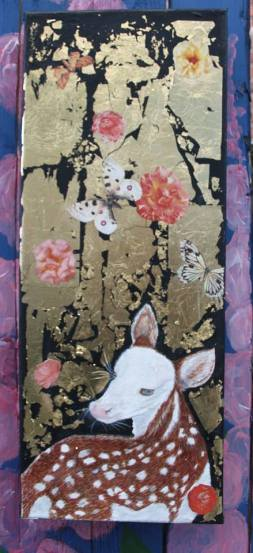 Looking Back Oil on canvas with gold leaf £30.00