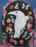 Outcast Oil on canvas with silver leaf Price: £30.00