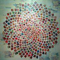 Suicide Squad Fibonacci Collage on canvas