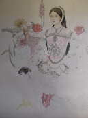 Unfinished drawing of Anne Boleyn