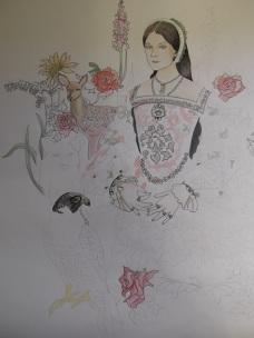 Unfinished drawing of Anne Boleyn