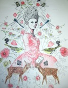 Pencil drawing of Marie Antoinette, Let them eat cake (True colours) £450.00