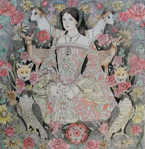 Anne Boleyn - Coloured in by Belinda Maria Longsden