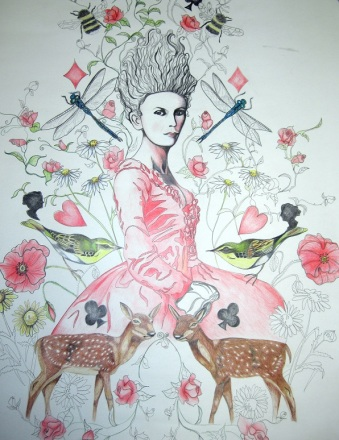 Marie Antoinette (Let them eat cake - True colours) Coloured in by Belinda Maria Longsden