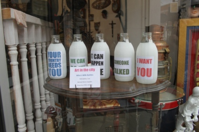 Mike's Milk Bottles Mixed Media £75.00