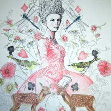 Let them eat cake (True colours) Framed (Not shown) Pencil Drawing Price: £395.00