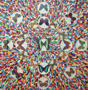 Everything is illuminated: Mixed Media Size: 61 cm x 61 cm Price: £200.00