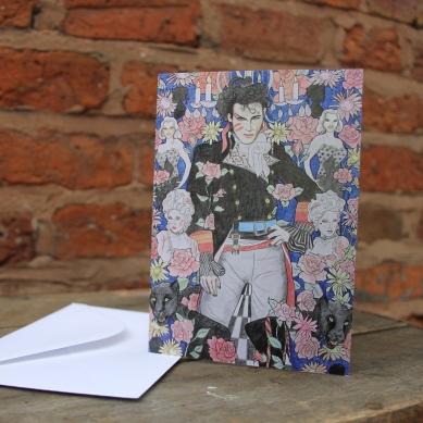 Adam Ant card Size 10.4 cm x 14.7 cm Price: £2.50