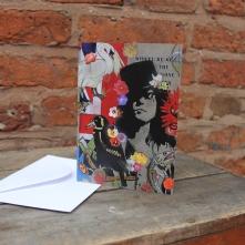Marc Bolan card Size 10.4 cm x 14.7 cm Price: £2.50