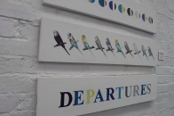 Departures Triptych Mixed Media £275.00