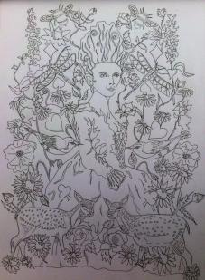 Marie Antoinette Colouring In