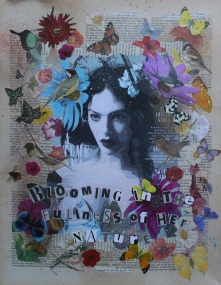Blooming in the fullness of her nature limited edition print. £20.00 each