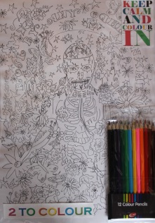 Colouring in Rick Genest. Two to colour in the pack. £14.00