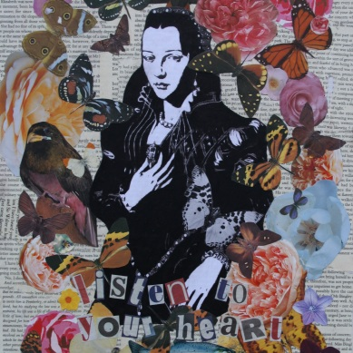 Listen to your heart (2) Mixed Media on canvas £40.00