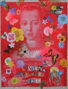 Listen to your heart Mixed Media on canvas £45.00