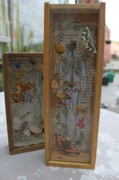Silence (3 and 4) Recycled domino boxes with decoupage Prices: £15.00 and £12.00