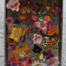 Humming Birds 3d Decoupage in recycled biscuit tin £28.00