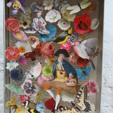 Butterfly catcher. Decoupage in a biscuit tin SOLD