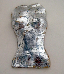 Lady of the lake Silver leaf on plaster SOLD
