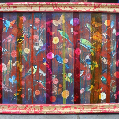 True Colours (2) Mixed Media on found board Unfinished Price £275.00
