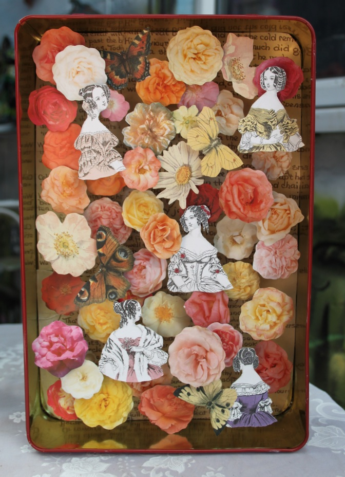 Oh, Mr Darcy. 3d Collage in recycled biscuit tin £28.00