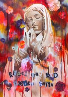 Reach out (Touch faith) Mixed Media £275.00