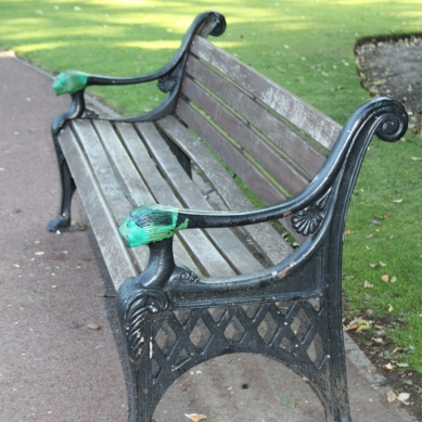 Bench at the West Park, Wolverhampton