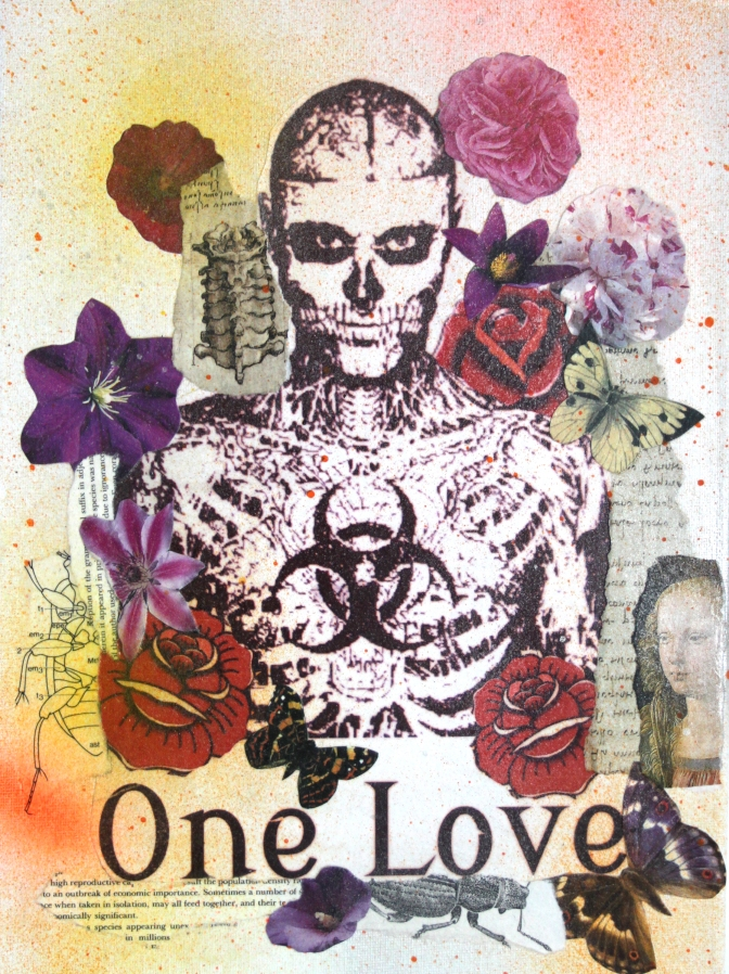 One Love Mixed Media on canvas Not for sale