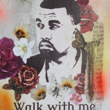 Walk with me Mixed Media On Canvas Not for sale